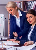 Business people office life of team people working with papers . Royalty Free Stock Photo
