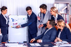 Business people office life of team people working with papers . Stock Photo