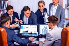 Business people office life of team people working with papers . Stock Photos