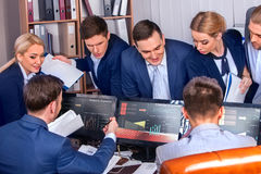 Business people office life of team people working with papers . Stock Image