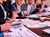 Business people office life of team people working with papers . Royalty Free Stock Image