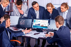 Business people office life of team people working with papers . Stock Photography