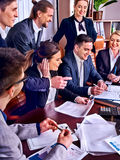 Business people office life of team people working with papers . Royalty Free Stock Photography
