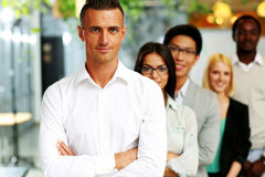Business people in the office lined up Stock Photo