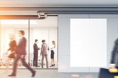 Business people in an office lobby, mockup Stock Photos
