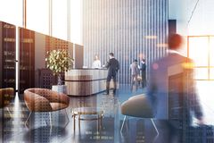 Business people in office lounge area royalty free stock photos