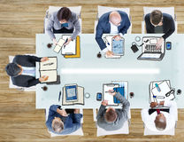 Business People in the Office Photo Illustration Royalty Free Stock Image
