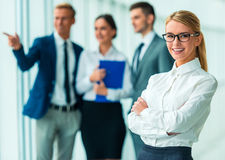 Business people in office Royalty Free Stock Images