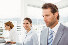 Business people in office Royalty Free Stock Photo