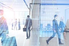 Business people in office, skyscraper royalty free stock photography