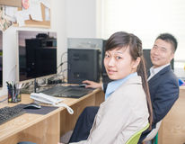 Business people in the Office Royalty Free Stock Photo