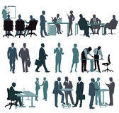 Business people and office workers Stock Images