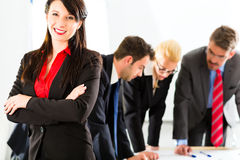 Business - People in office working as team Royalty Free Stock Image