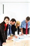 Business - People in office working as team Royalty Free Stock Photography