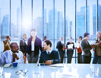Business People Office Working Discussion Team Concept Stock Photos