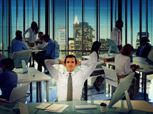 Business People Office Working Take a Brake Concept Royalty Free Stock Images