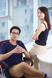 Business people in the office. Young Asian business people in the Office Royalty Free Stock Photos