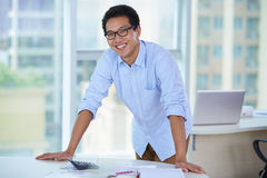 Business people in the office. Young Asian business people in the Office Royalty Free Stock Image