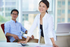 Business people in the office. Young Asian business people in the Office Stock Image