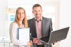 Business people in the office royalty free stock image