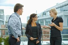 Free Business People On Terrace Stock Image - 12395911