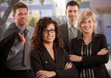 Business people outdoor royalty free stock photos
