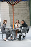 Business people outdoors Stock Image