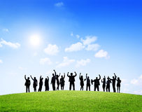 Business People Outdoors Celebrating Success Royalty Free Stock Photography