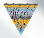 Business people over funnel shape stock illustration