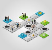 Business people over path. Stock Images