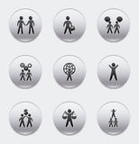 Business people. Over white background vector illustration Stock Photography