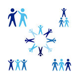 Business people. Over white background vector illustration Royalty Free Stock Photo