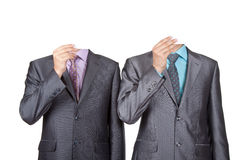 Business people paper face Stock Images