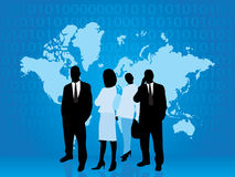 Business people part of technology world Royalty Free Stock Image