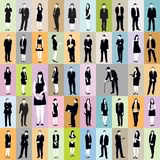 Business people pattern Royalty Free Stock Photography