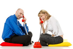 Business People on the Phone Stock Image