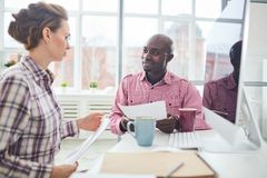 Business people planning Royalty Free Stock Photos