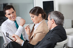 Business people planning capital Stock Image