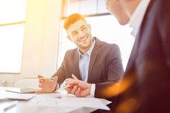 Business people planning during meeting Stock Image