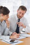 Business people planning together Stock Image