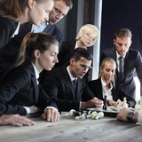 Business people play chess Royalty Free Stock Photography