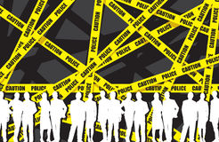 Business people in a police tape background Stock Photography