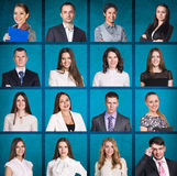 Business people portrait collage stock photography