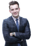 Business people.portrait of a young businessman Royalty Free Stock Photo