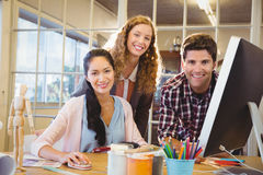 Business people posing together. At work Stock Images