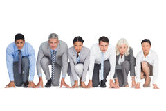 Business people preparing to run Stock Photo