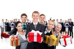 Business people present Stock Photos