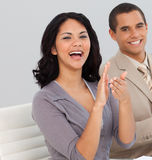 Business people at a presentation Clapping Royalty Free Stock Images