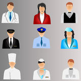 Business people icons. Business people and professional job icons illustration Stock Photography
