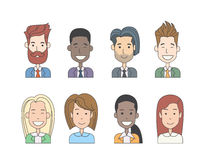 Business People Profile Icon Man Woman Doodle Stock Images